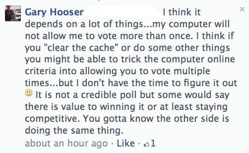 garyhooser cheats poll