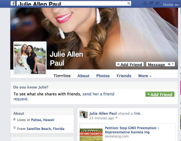 julie allen paul